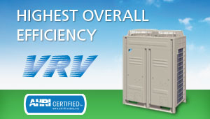 Highest Overall Efficiency - VRV