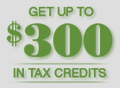 get up to 300 In Tax Credits logo